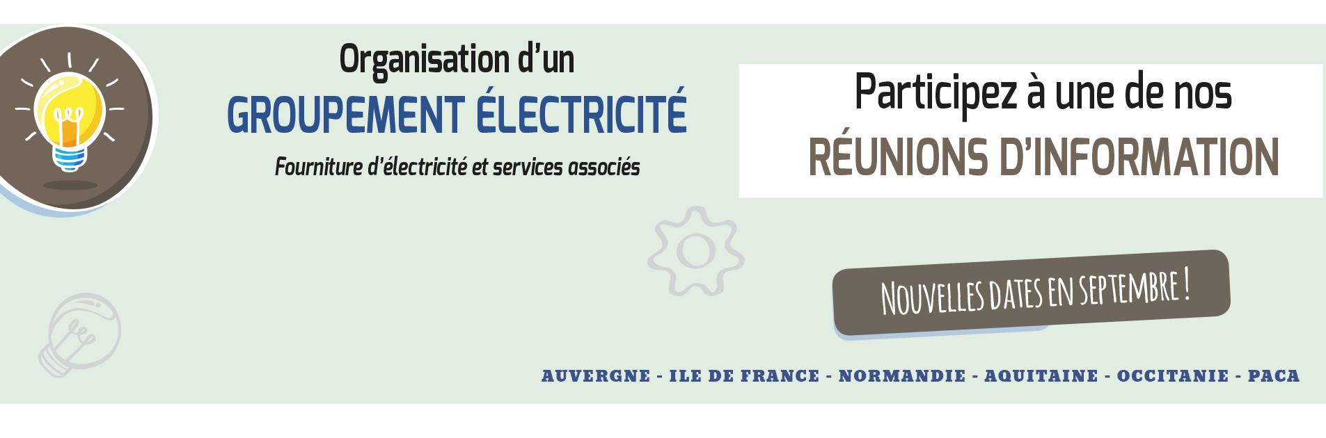 Participez à notre Groupement Electricité