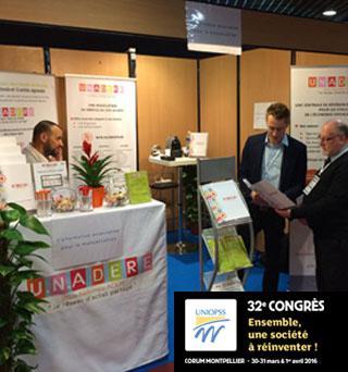 U.N.ADERE au 32 ème congrès de l'UNIOPSS
